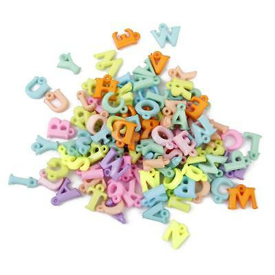 100± Mixed Color Acrylic Letter Alphabet Charm Pendants DIY Jewelry Findings