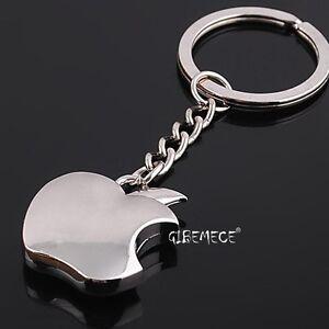 New Souvenir Metal Apple Key Chain keyfob Novelty Apple Keyring Creative Gifts