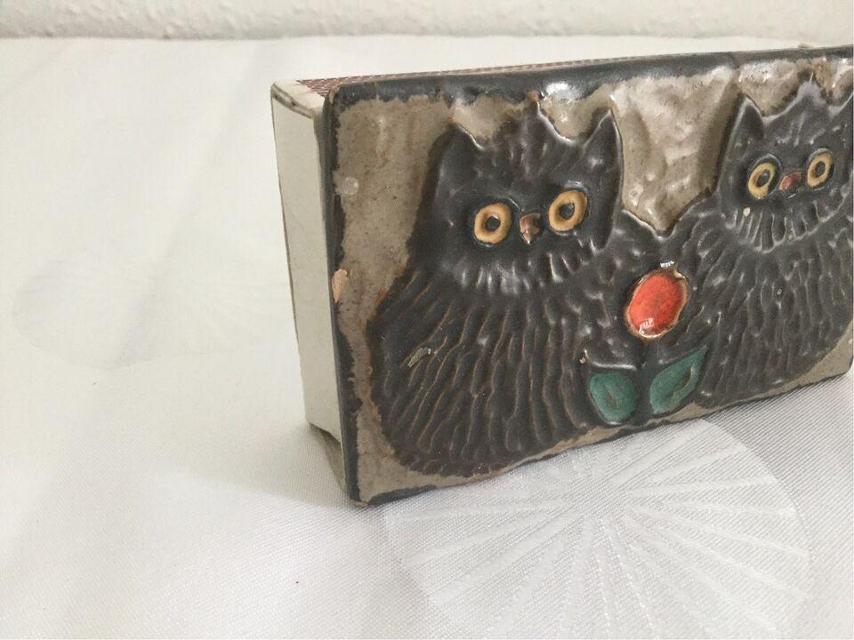 Tændstikæsker, Keramik forside til tændstikæske