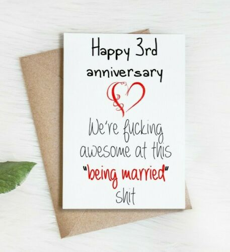 3rd Anniversary CardThird Anniversary Card3 Year Anniversary Card