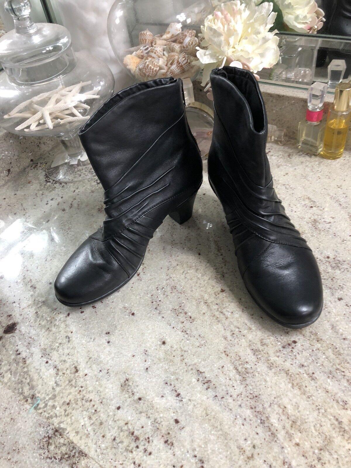 """fino al 60% di sconto Rockport Cobb Hill 'Caid4blk"""" nero Leather Leather Leather Slouch Look avvioie donna Dimensione 7 M  promozioni di squadra"""