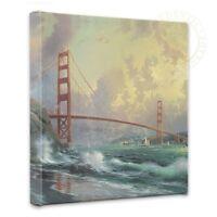 Thomas Kinkade San Francisco Golden Gate Bridge 14 X 14 Gallery Wrapped Canvas