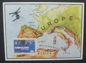 GIBRALTAR-1978-Gibraltar-From-Space-Souvenir-Sheet-Mint-Never-Hinged-SGMS399