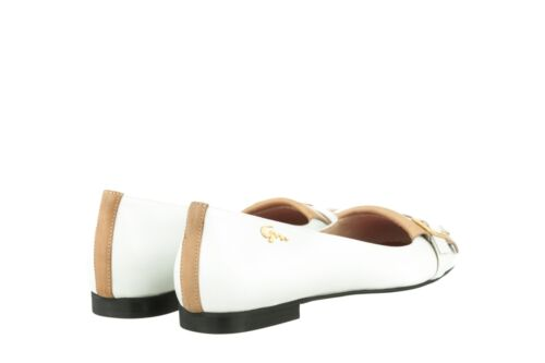 Real Flats Leather Mori New Shoes White In Italy Schuhe Ballerina Made Bianco 44 rqIc8IwS