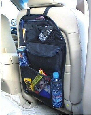 BACK SEAT CAR VAN SEAT CHILDRENS ORGANISER TIDY MULTI-POCKET STORAGE TRAVEL STOW