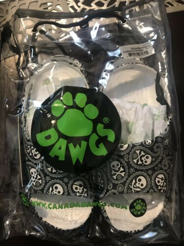 Dawg Lounmouth  Skull Shiver Me Timbers Slides Youth Sz 11 Boy Girl Sandals
