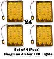 Bargman Setof4 Four 84 85 86 Amber Upgrade Led Turn Lights Conversion Trailer Rv