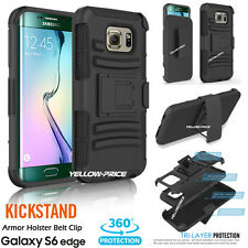 SHOCKPROOF with BELT CLIP HOLSTER STAND COVER FILMS for Samsung Galaxy S6 edge