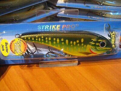 "StrikePro 6/"" Buster Jerk Sinking Jerk Bait 2 11//16 Oz Fishing Lure Pike Color"