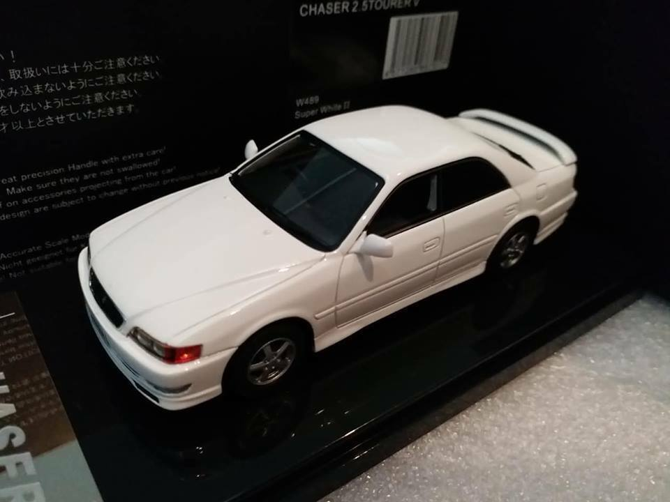 1 43 Wit's WITS Toyota Chaser 2.5 tourer V JZX100 Super White II 1998 W489