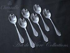 Christofle POMPADOUR 6 Ice Cream Spoons, Cuillères à Glace 13cm