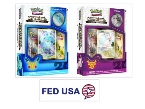 Manaphy Mythical Pin Set Bundle Generations Packs Mew Mythical Collection Box