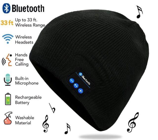Beanie Wireless Bluetooth Hat Music Head Cap Headset Headphone Speaker Lot GM