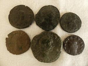 ( Lot : 06 ) Lot De 6 Pieces De Monnaie Antique Romaine Empereur A Identifier