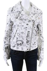 Shrimps-Womens-Doodle-Print-Embroidered-Asymmetrical-Jacket-White-Size-UK-6