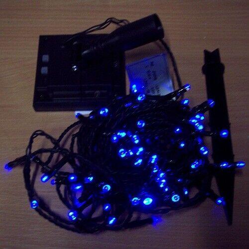 risparmia fino al 30-50% di sconto LED Solare Catena Luminosa Luminosa Luminosa 100'er BLU 8 funtionen 10m Blachere jfs019b  è scontato