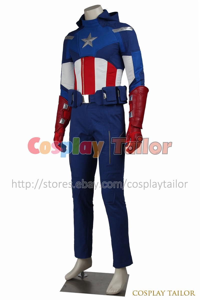 the avengers 1 captain america cosplay steve rogers uniform costume