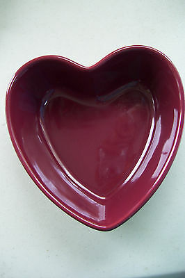 "Kitchen, Dining & Bar Ambitious Chantal Crimson Red Ramekins Heart Shape Bakeware 6 1/2"" Tall 6 1/4"" Wide At Any Cost Home & Garden"