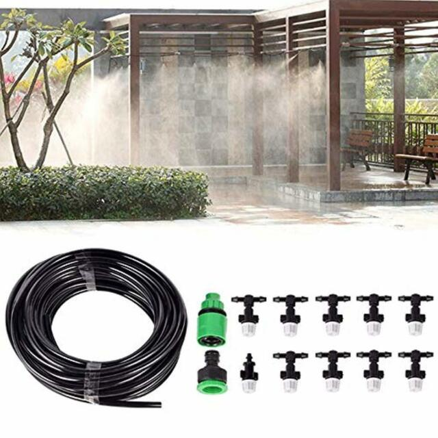 32FT Outdoor Misting Cooling-System Garden Irrigation Water Mister Nozzles Set