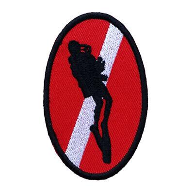Taucher Down Piraten Flagge Patch Rucksack Tauchen Tauchen bestickt Eisen