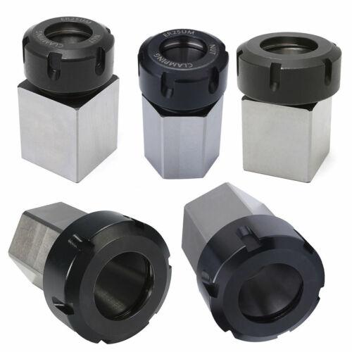 Hex+Square ER25//ER32//ER40 Collet Block Spring Chuck Holder Engraving Machine C#