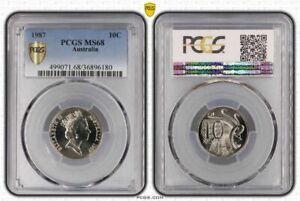 1987-AUSTRALIA-10-CENTS-PCGS-MS68-COIN-ONLY-5-GRADED-HIGHER