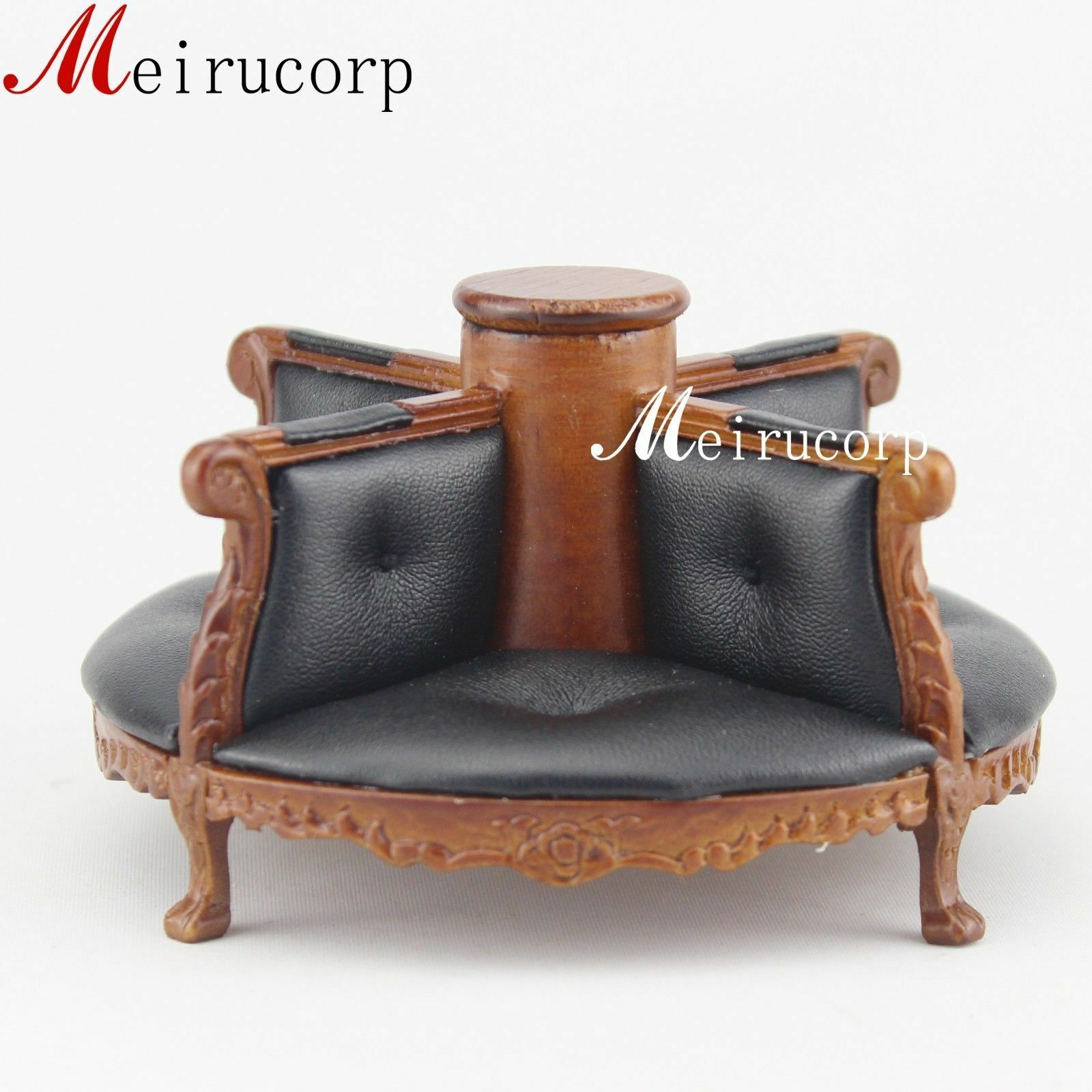 1:12 scale miniature furniture hand carved wooden Pelle chair for dollhouse