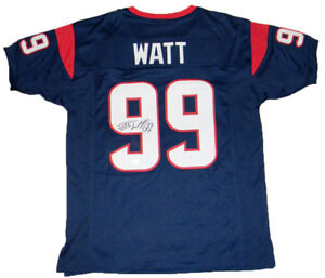 Image is loading JJ-WATT-SIGNED-AUTOGRAPHED-HOUSTON-TEXANS-99-NAVY- 0697a55c7