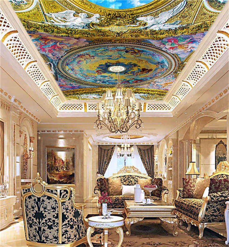 Divine lila Design 3D Ceiling Mural Full Wall Photo Wallpaper Print Home Decor