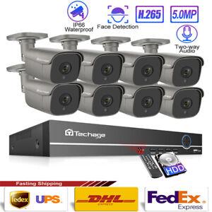 48V-5MP-H-265-POE-IP-Home-Shop-Alarm-Sound-Security-Onvif-CCTV-Camera-System-Lot
