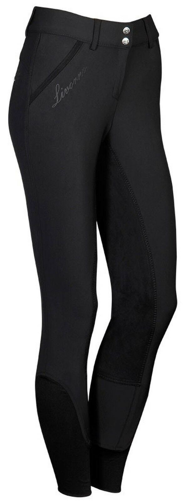 Harry's Horse Donna Pantaloni Montala Livorno PLUS guarnizione in pieno Ricami  Strass Nero
