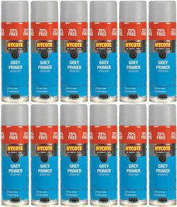 Hycote-Grey-Primer-Spray-Paint-Larger-500ml-Aerosol-Tins-x-12