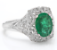 1-70Ct-Natural-Emerald-amp-Diamond-14K-Solid-White-Gold-Ring thumbnail 2