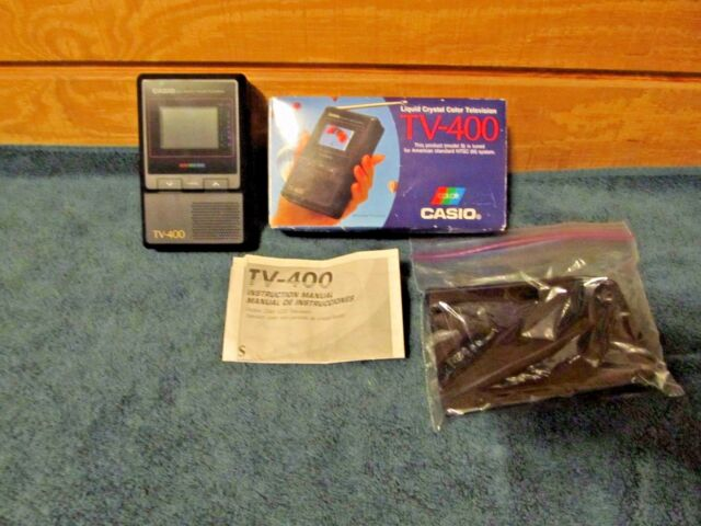 """Casio TV-400 - 2"""" LCD - Pocket Color Television In Box With Instructions"""