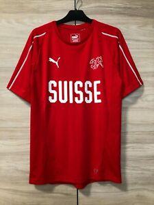 3xl PUMA SUISSE Training Sweatshirt rouge WM Fan SUISSE DE FOOTBALL JERSEY S