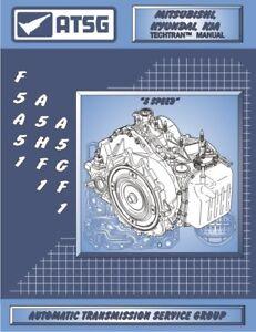 kia hyundai a5gf1 automatic transaxle overhaul manual