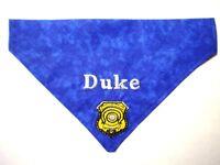 Police Badge Personalized Custom Embroidered Dog Bandana