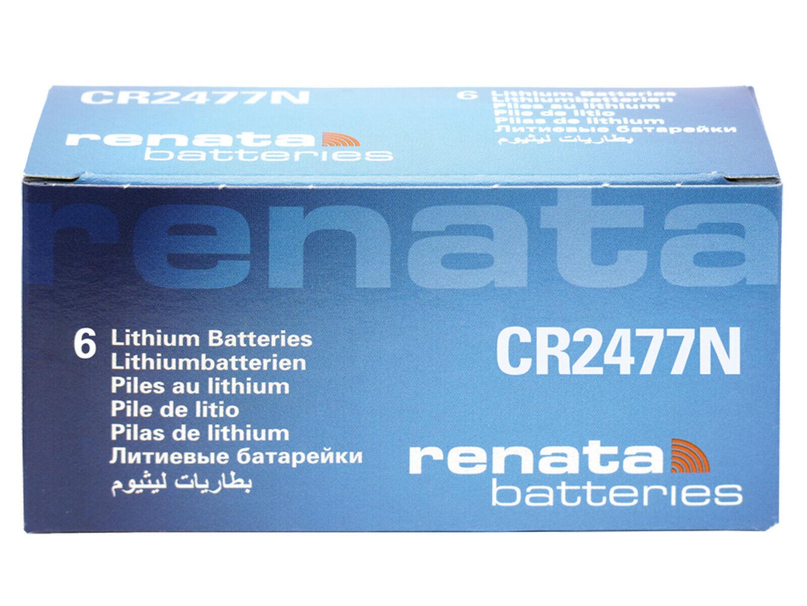 6x renata cr2477n 3v cell coin battery lot replace CR DL BR ECR kcr ml