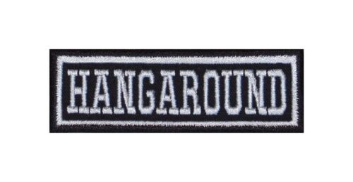 Hangaround Biker Patch ricamate Rocker STAFFA immagine tonaca MOTO MC BADGE Heavy
