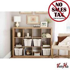 12 Cube Bookcase Weathered Wood Wall Shelving Unit And Storage Cubicle  Bookshelf