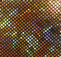 Hologram B'dazzled - Gold/black 4-way Stretch Spandex Fabric Swimwear Yard