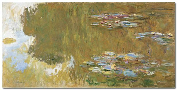 Quadro Claude Monet 'The Water Lily Lily Lily Pond' Stampa su Tela Canvas bf4d6f