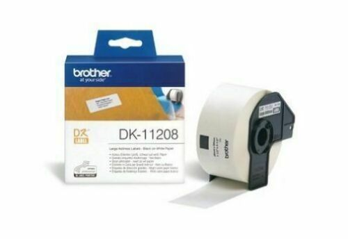 5+1 Rolls Compatible DK-11208 BROTHER White Large Address Labels 38mm x 90mm