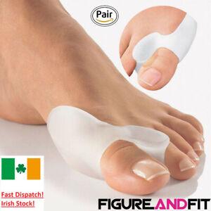 2-Silicone-Gel-Bunion-Toe-Protector-Straightener-Corrector-Spreader-Splint-Pads