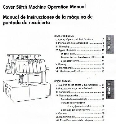 PDF Brother 2340CV Cover Stitch Overlock Serger Machine Operating ...