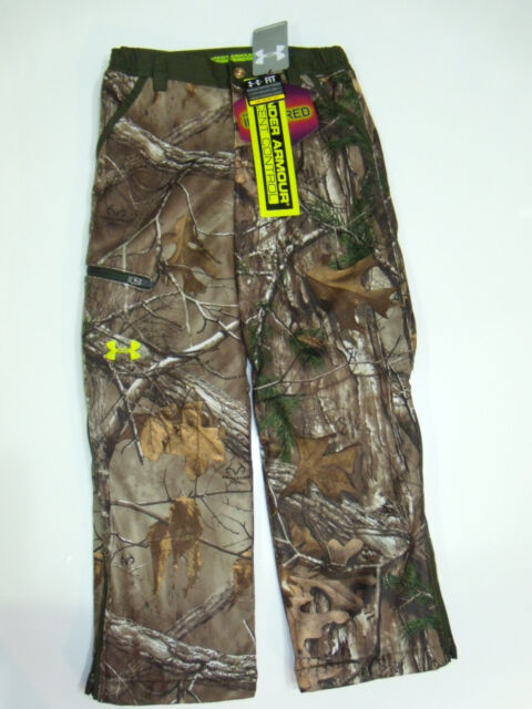 4d30485ecd10c NWT Under Armour Youth X-Small Infrared Scent Control Rut Camo Hunting Pants