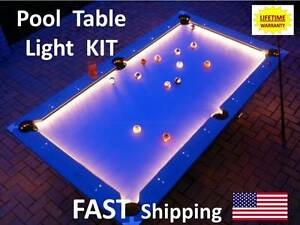 Image Is Loading LED Pool Amp Billiard Table Lighting KIT Light