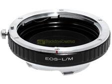 Anello adapter x montare ottiche Canon EOS su corpi Leica M. Adattatore. ALM.