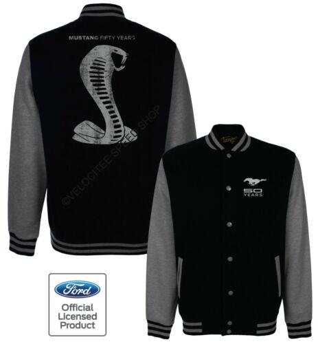 FORD Baseball VARSITY Giacca Con Licenza Mustang Cobra 50 ANNI logo A19238