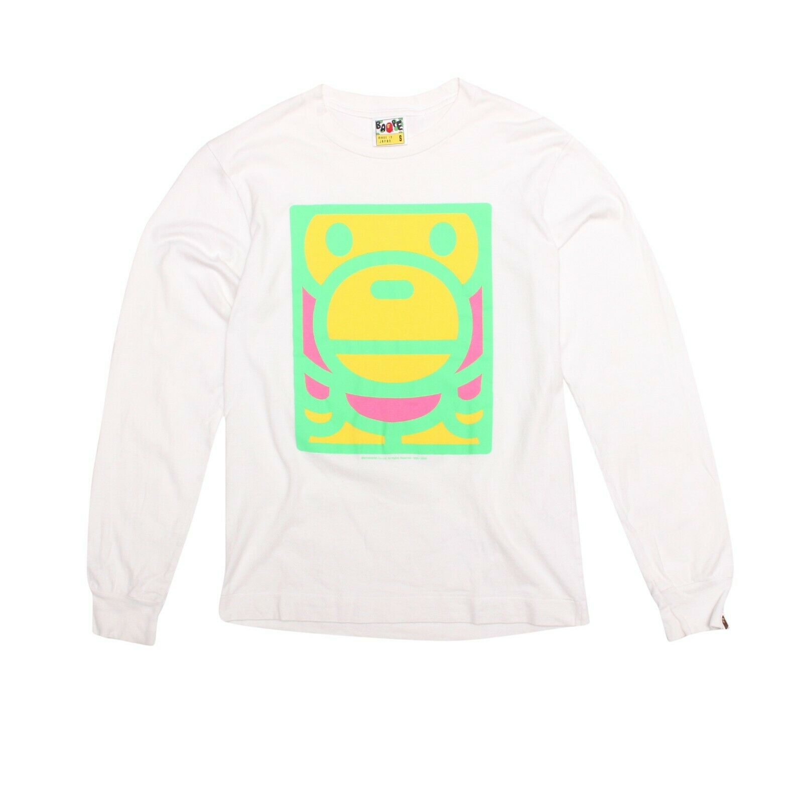 b542006b1 BAPE T-shirt White Long Sleeved Baby Milo Cotton Size S Flugold Mens  nysyys1400-Casual Button-Down Shirts